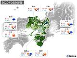 2020年02月05日の近畿地方の実況天気