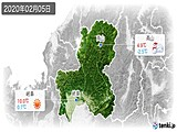 2020年02月05日の岐阜県の実況天気
