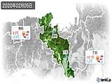 2020年02月05日の京都府の実況天気