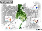 2020年02月05日の兵庫県の実況天気