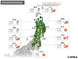 2020年02月06日の東北地方の実況天気