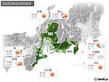 2020年02月06日の東海地方の実況天気