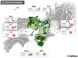 2020年02月06日の近畿地方の実況天気
