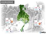 2020年02月06日の兵庫県の実況天気