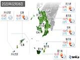 2020年02月06日の鹿児島県の実況天気