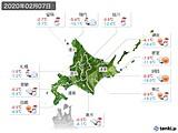2020年02月07日の北海道地方の実況天気