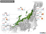 2020年02月07日の北陸地方の実況天気