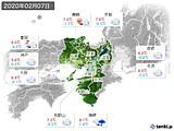 2020年02月07日の近畿地方の実況天気