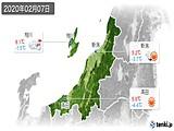 2020年02月07日の新潟県の実況天気