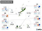 2020年02月07日の沖縄県の実況天気