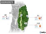 2020年02月07日の岩手県の実況天気