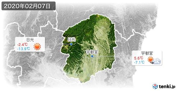 栃木県(2020年02月07日の天気
