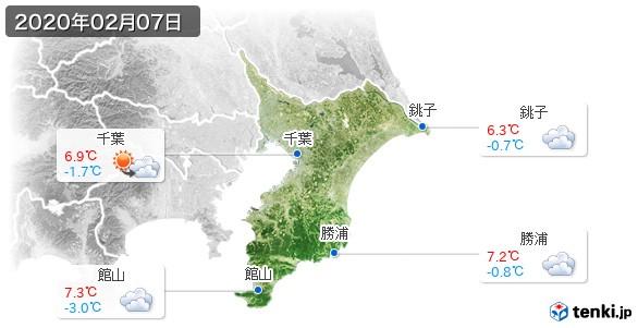 千葉県(2020年02月07日の天気