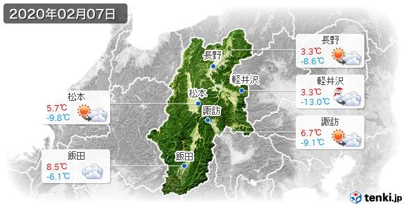 長野県(2020年02月07日の天気