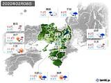 2020年02月08日の近畿地方の実況天気