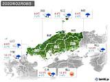 2020年02月08日の中国地方の実況天気