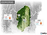 2020年02月08日の栃木県の実況天気