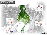 2020年02月08日の兵庫県の実況天気