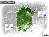 2020年02月08日の岡山県の実況天気