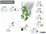 2020年02月08日の鹿児島県の実況天気