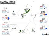 2020年02月08日の沖縄県の実況天気