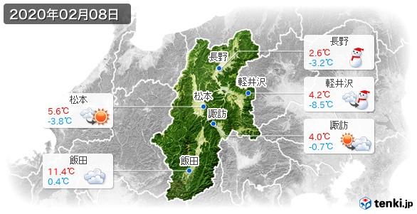 長野県(2020年02月08日の天気