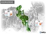 2020年02月09日の京都府の実況天気