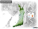 2020年02月09日の大阪府の実況天気
