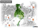 2020年02月09日の兵庫県の実況天気