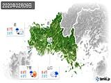 2020年02月09日の山口県の実況天気