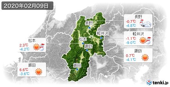 長野県(2020年02月09日の天気