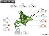 2020年02月10日の北海道地方の実況天気