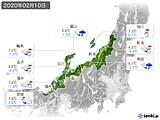 2020年02月10日の北陸地方の実況天気