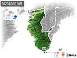 2020年02月10日の和歌山県の実況天気