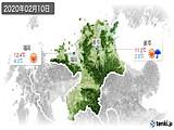 2020年02月10日の福岡県の実況天気