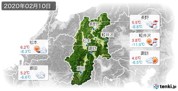 長野県(2020年02月10日の天気