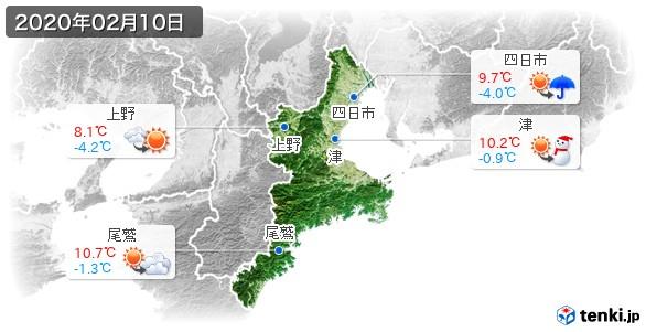 三重県(2020年02月10日の天気