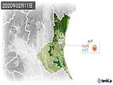 2020年02月11日の茨城県の実況天気