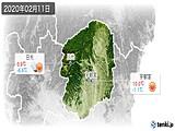 2020年02月11日の栃木県の実況天気