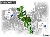 2020年02月12日の京都府の実況天気