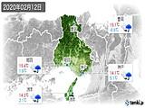 2020年02月12日の兵庫県の実況天気