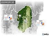 2020年02月13日の栃木県の実況天気