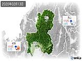 2020年02月13日の岐阜県の実況天気