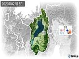 2020年02月13日の滋賀県の実況天気