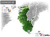 2020年02月13日の和歌山県の実況天気