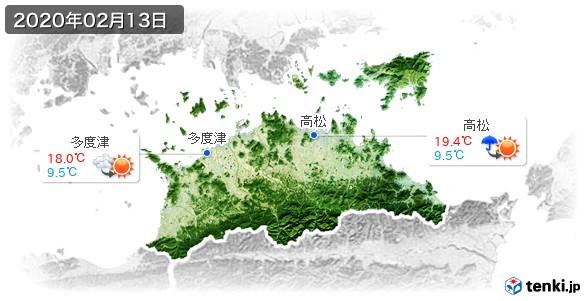 香川県(2020年02月13日の天気