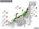 2020年02月14日の北陸地方の実況天気