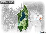 2020年02月14日の滋賀県の実況天気