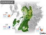 2020年02月14日の熊本県の実況天気
