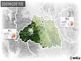 2020年02月15日の埼玉県の実況天気